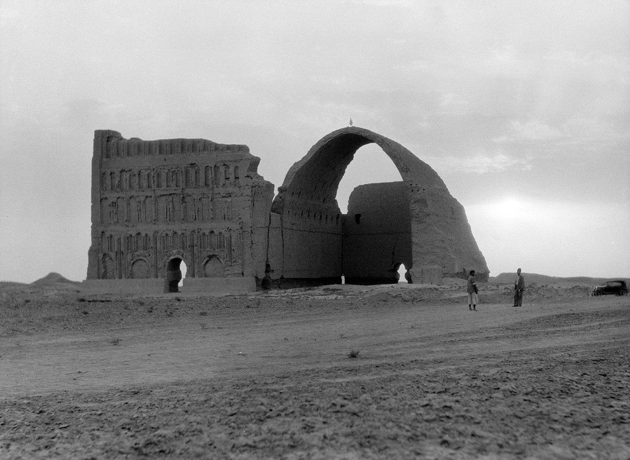 تاق کسری در تیسفون سال ۱۹۳۲ میلادی