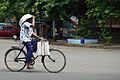 Cyclist - Strand Road - Kolkata 2012-09-22 0341.JPG