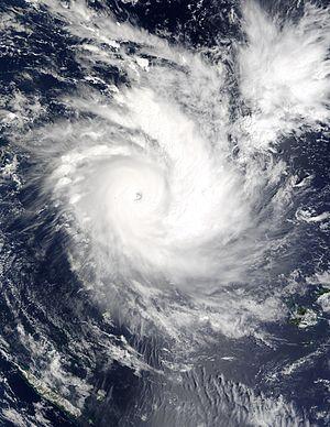 Cyclone Zoe - Image: Cyclone Zoe 27 dec 2002 2255Z