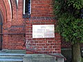 Częstochowa kościoł ewangelicko-auguburski Wniebowstąpienia Pańskiego tablica informacyjna 28042012 kpjas.JPG