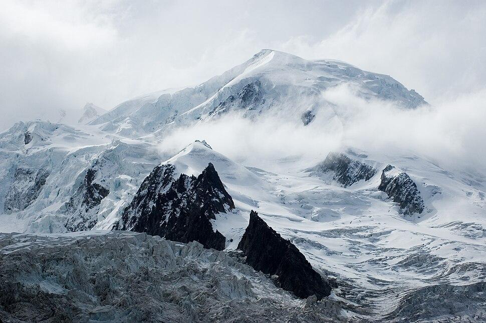 Dôme du Goûter depuis la gare des glaciers