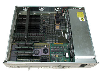 DECstation - DECstation 5000/200 with top cover removed.