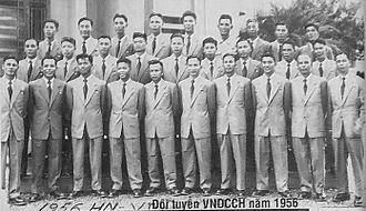 Vietnam national football team - The North Vietnam team in 1956.