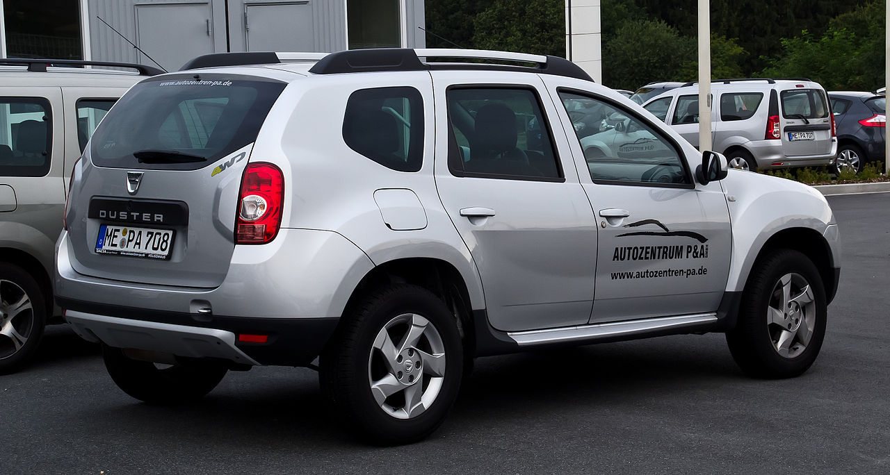 file dacia duster 105 4x4 prestige heckansicht 31 juli 2012 wikimedia. Black Bedroom Furniture Sets. Home Design Ideas
