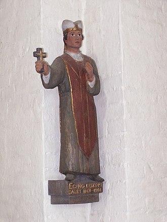 Egino (Bishop of Dalby) - Sculpture of Egino in Dalby Heligkorskyrka