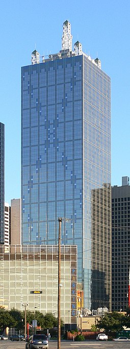 Renaissance Tower is the headquarters of the Neiman Marcus Group, also in Dallas. Dallas Renaissance Tower 1.jpg