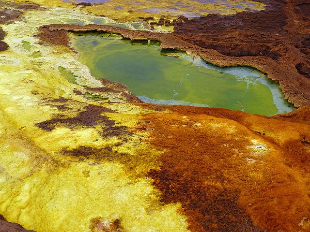Maar de Dallol, depresión de Danakil, Etiopía