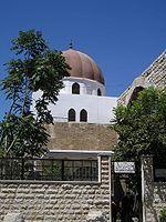 The tomb of sultan Saladin near the northwestern corner of the Umayyad Mosque, Damascus, Syria.