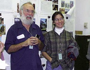 Daniel H. Janzen - Dan Janzen and Winnie Hallwachs, at the American Museum of Natural History, 1998