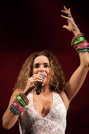 Daniela Mercury during the celebration of the 35th anniversary of Cape Verde's independence.