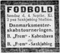 Danmarksmesterskabsturneringen football match advertisement Lolland-Falsters Folketidende 01.09.1927.png