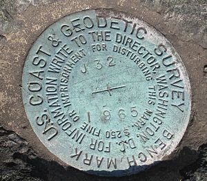 English: Marker, U.S. National Geodetic Survey...