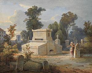 Rudolf Wiegmann - The tomb of Johann Ludwig Söhlmann