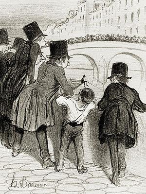Badaud - Honoré Daumier, Les Badauds, 1839.