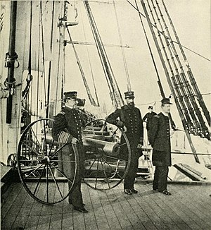 David Farragut - Farragut on board Hartford