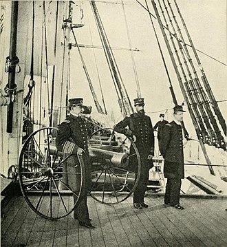 David Farragut - Farragut on board Hartford