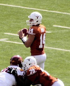 David Ash (American football) - David Ash throwing a pass against Iowa State in 2012.