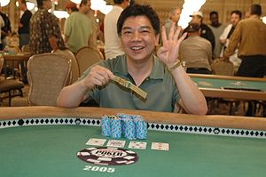 David Chiu (poker player) - Chiu winning an event at the 2005 World Series of Poker