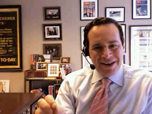 English: David Frum. Image source is a screen ...