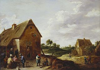 Peasants Outside a Country Inn