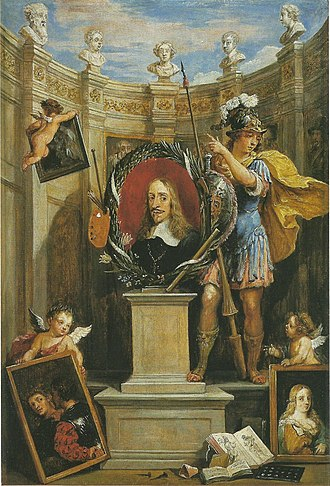 Theatrum Pictorium - Modello for the frontispiece for the Theatrum Pictorium, by Teniers
