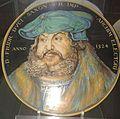 David Zipirovic, piatto con ritratto di Federico duca di Sassonia (da Durer).jpg