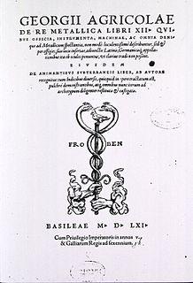 <i>De re metallica</i> literary work of Georgius Agricola