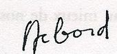 Signature de Guy Debord