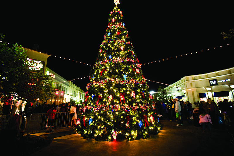 File:December on the Red Louisiana Boardwalk Giant Christmas Tree 2.jpg