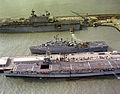 Dedalo (R01) USS Raleigh (LPD-1) and USS Saipan (LHA-2) at Rota 1982.JPEG