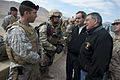 Defense.gov News Photo 120427-D-TT977-092 - Secretary of Defense Leon E. Panetta and Chilean Minister of National Defense Andres Allamand speak with Chilean Special Forces soldiers after a.jpg
