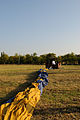 Deflated hot air balloon ready to be packed up 1.JPG