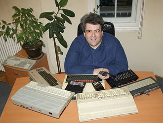 Dejan Ristanović - Dejan Ristanović with the computers from the 1980s
