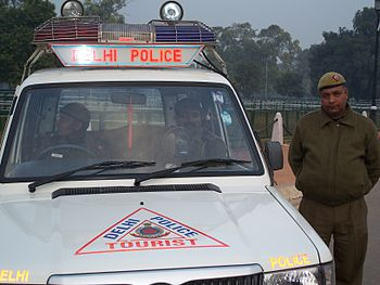English: The Delhi Tourist Police, India