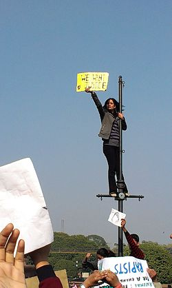 Delhi protests-Another lamp-post revolutionary.jpg