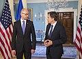 Deputy Secretary Blinken Welcomes the Ukrainian Prime Minister Yatsenyuk, at the Department of State (19668483715).jpg