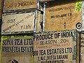Detail of Boxes of Tea for Shipment - Nathmulls Tea Shop - Darjeeling - West Bengal - India - 02 (12398559755).jpg