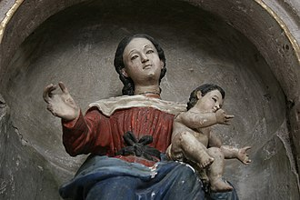 Spanish missions in Mexico - Image: Detalle templo yuriria 2