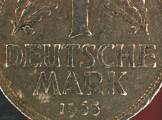 Coin collecting - Image: Deutsche Mark Anaglyph 1