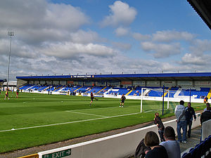 Chester F.C. - Chester's home ground is Deva Stadium