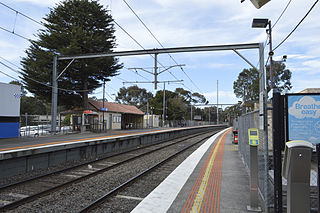 Diamond Creek railway station railway station in Diamond Creek, Melbourne, Victoria, Australia