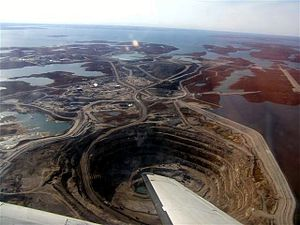 Diavik Diamond Mine - Diavik mine in 2006