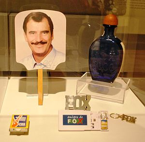 Vicente Fox - Items from Fox's presidential campaign on display at the Museo del Objeto del Objeto.