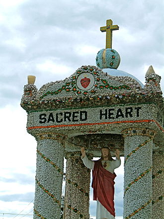 Dickeyville Grotto - Sacred Heart shrine at the grotto