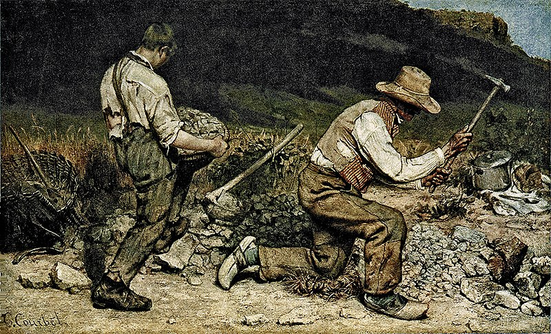 Courbet S Paintings Can Be Characterized As