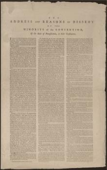 Dissent of the Minority at the Pennsylvania Constitutional Convention.djvu