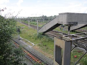 Ditton railway station - The disused station seen in 2012