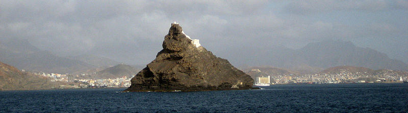 The Ilhéu dos Pássaros between the islands of Santo Antão and São Vicente, Cape Verde