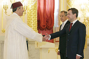Abdelkader Lecheheb - Lecheheb presenting his credentials to Dmitry Medvedev in May 2009.