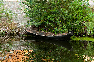 Boat - A dugout (dowbanka) dating from the end of the 19th century at Radomysl Castle, Ukraine